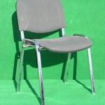 (Art.Nr. 3001) Konferenzstuhl, gepolstert, Sitz und Rücken Anthrazit, Gestell verchromt
