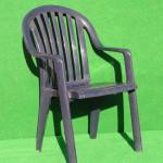 (Art.Nr. 3003) Gartenstuhl, blau, Kunststoff, mit Armlehnen