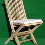 (Art.Nr. 3006) Teak-Holzklappstuhl, braun mit Auflage