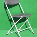(Art.Nr. 3008) Klappstuhl Samsonite grau, Sitz- und Rückenlehne Kunststoff