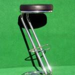 (Art.Nr. 3011) Barhocker, Gestell Z-Form Chrom, Sitz schwarz