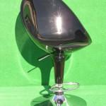 (Art.Nr. 3012) Barhocker mit Rückenlehne, Fuss chrom, Sitzfläche chrom