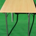 (Art.Nr. 5001) Konferenz-Klapptisch 120 x 80 x 74 cm hoch Platte Buche Multiplex, Gestell Hammerschlag