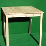 (Art.Nr. 5006) Tisch Kiefer natur, 80 x 80 x 74 cm hoch, Gestell und Platte, Kiefer natur