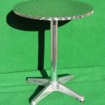 (Art.Nr. 5011) Bistro-Stehtisch 60 cm Durchmesser, Tellerfuß und Platte verchromt, 70 cm hoch